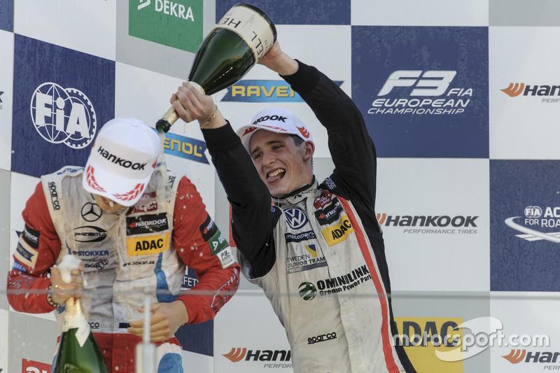Rookie-Podium: Ralf Aron, Prema Powerteam, Dallara F312 - Mercedes-Benz; Joel Eriksson, Motopark, Dallara F312 - Volkswagen