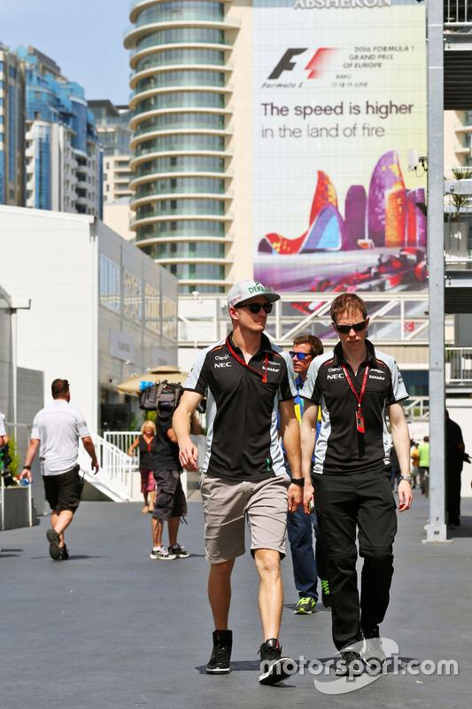 Nico Hulkenberg, Sahara Force India F1 con Will Hings, Sahara Force India F1