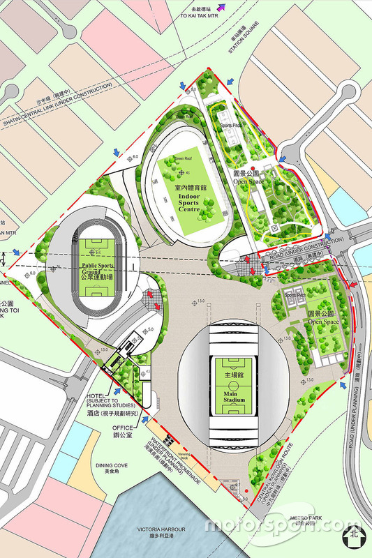 Kai Tak Sports Park, Illustration