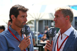 Mark Webber, Porsche Team WEC Driver and Channel 4 Presenter, David Coulthard, Red Bull Racing and Scuderia Toro Advisor and Channel 4 F1 Commentator