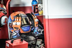 Heln en handschoenen van Michael van der Mark, Honda WSBK Team