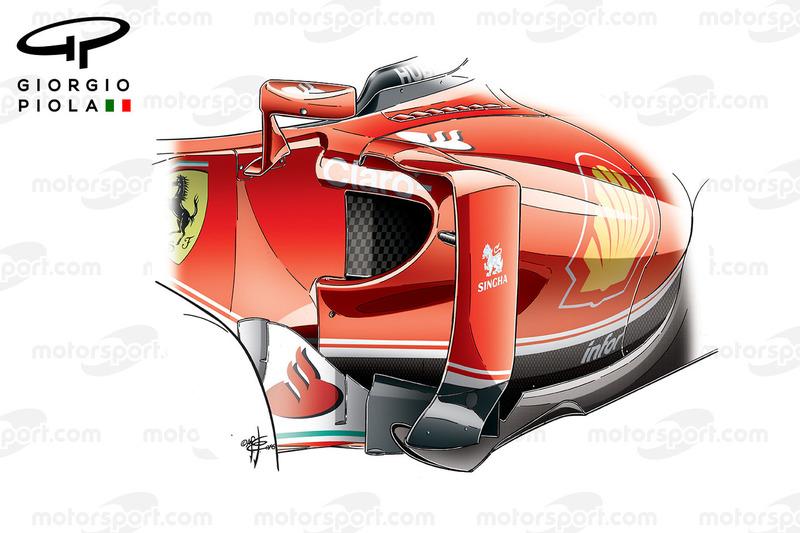 Ferrari SF16-H, Seitenkästen, Grand Prix von Spanien