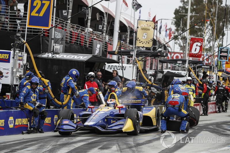 Alexander Rossi, Andretti Autosport Honda, au stand
