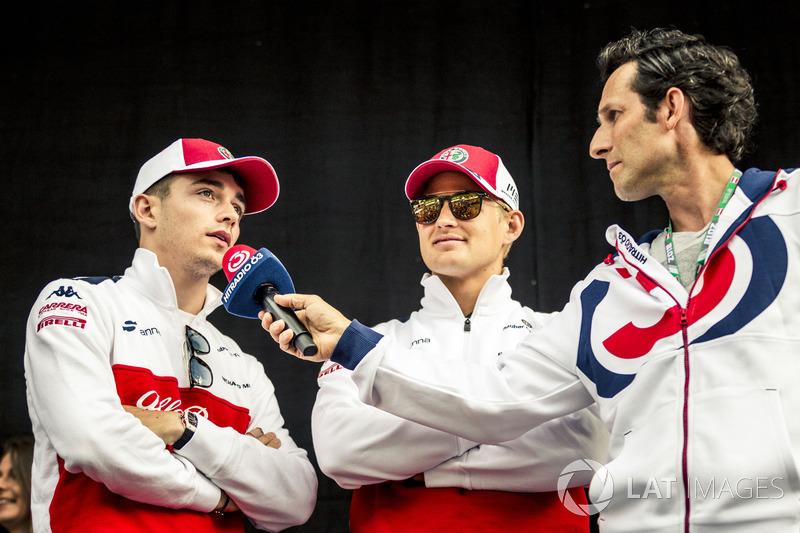Charles Leclerc, Sauber and Marcus Ericsson, Sauber sur scène