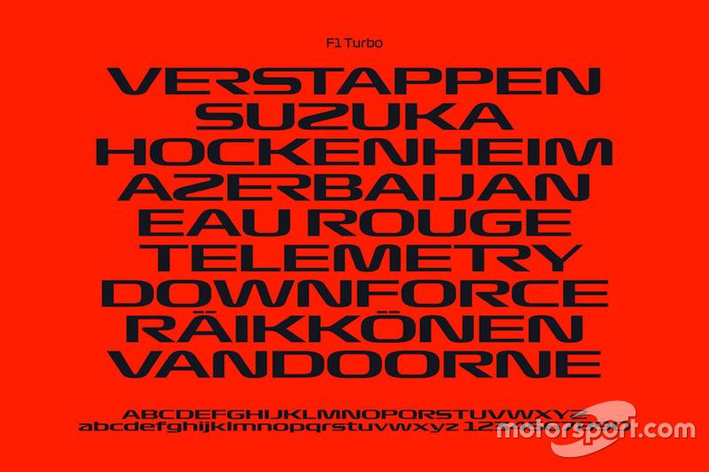 F1 Turbo yazı tipi