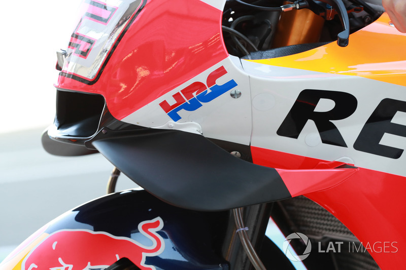 Detail fairing motor Marc Marquez, Repsol Honda Team