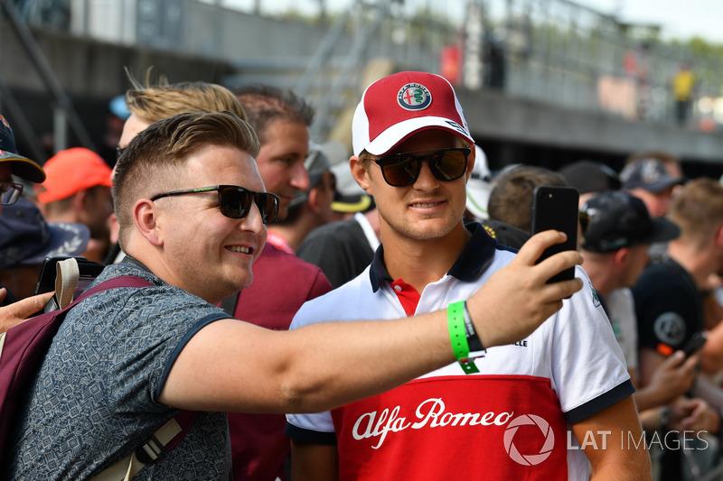 Marcus Ericsson, Sauber avec des fans