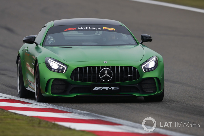 An AMG Mercedes is driven on Pirelli Hot Laps