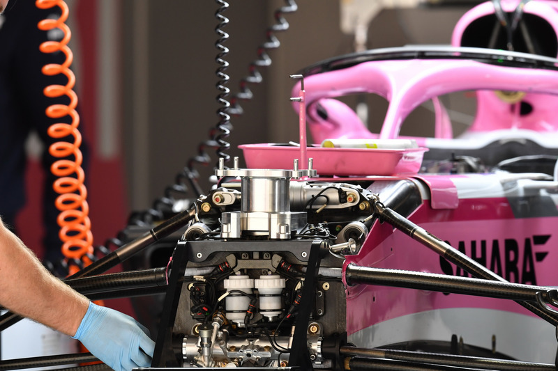 Force India VJM11 front suspension detail