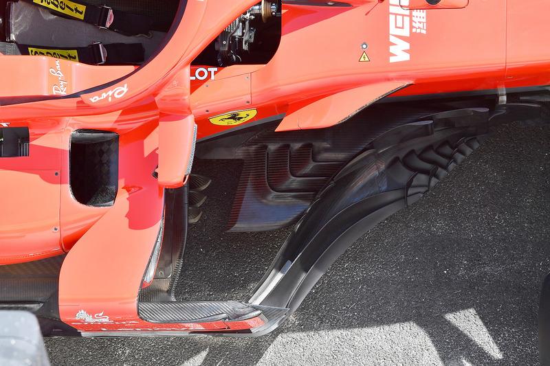 Ferrari SF71H barge board detail
