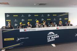 Conferenza stampa, #32 United Autosports, Ligier JSP217 - Gibson: William Owen, Hugo de Sadeleer, Filipe Albuquerque