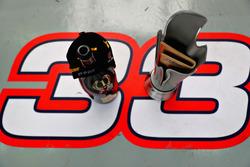 The winners trophy of Max Verstappen, Red Bull Racing