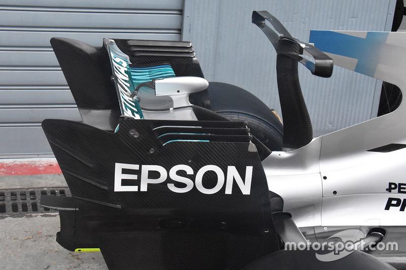 Mercedes F1 W08: Heckflügel