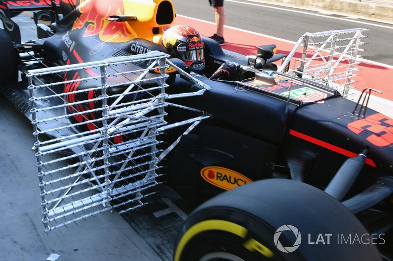Des capteurs aérodynamiques sur la Red Bull Racing RB13 de Max Verstappen