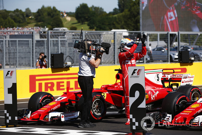 Polesitter Sebastian Vettel, Ferrari