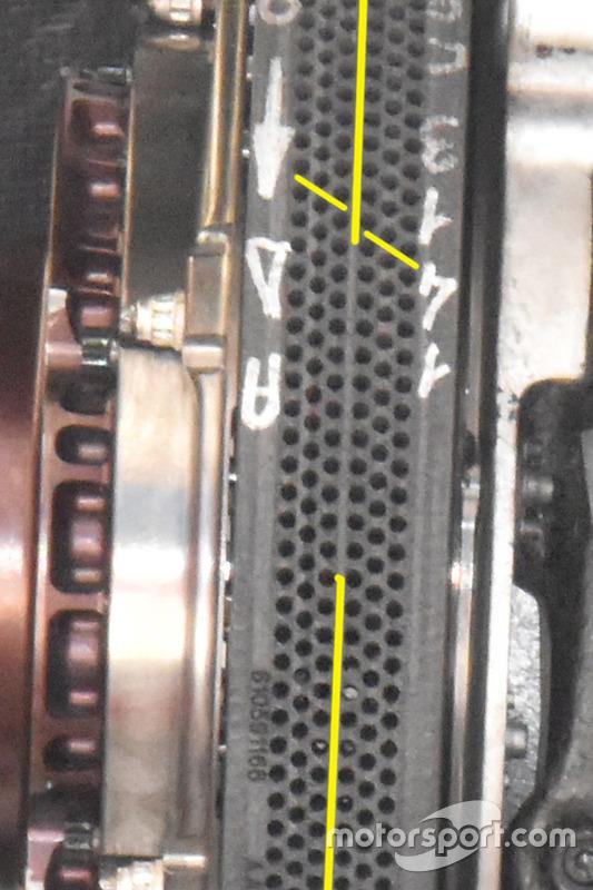Ferrari SF70H Brembo brake disc detail