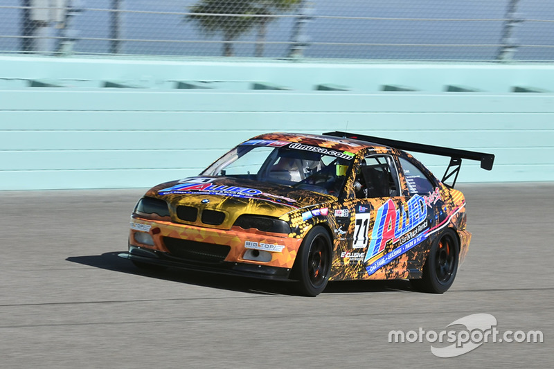 #71 MP2B BMW M3 driven by Sebastian Carazo & Brian Ortiz of TLM USA