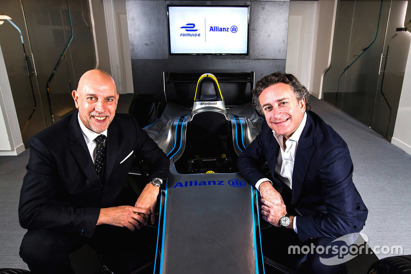 Jean-Marc Pailhol, Allianz SE Leiter Group Market Management & Distribution, Alejandro Agag, Formula E CEO