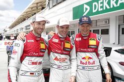 Polesitter René Rast, Audi Sport Team Rosberg, Audi RS 5 DTM; 2. Jamie Green, Audi Sport Team Rosber
