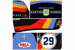 Fernando Alonso, design del casco per la Indy 500