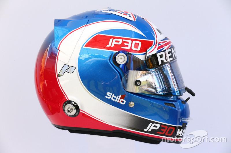 Le casque de Jolyon Palmer, Renault Sport F1 Team RS17