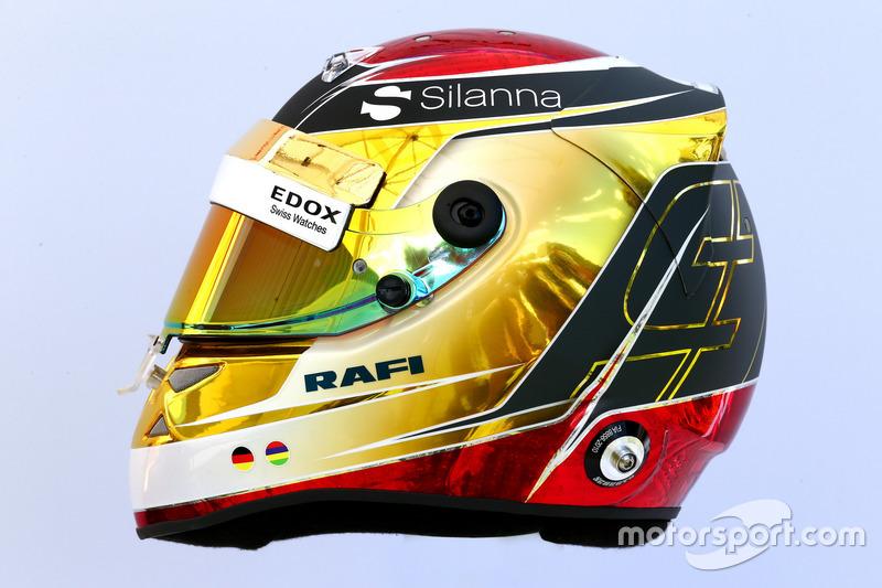 Le casque de Pascal Wehrlein, Sauber C36