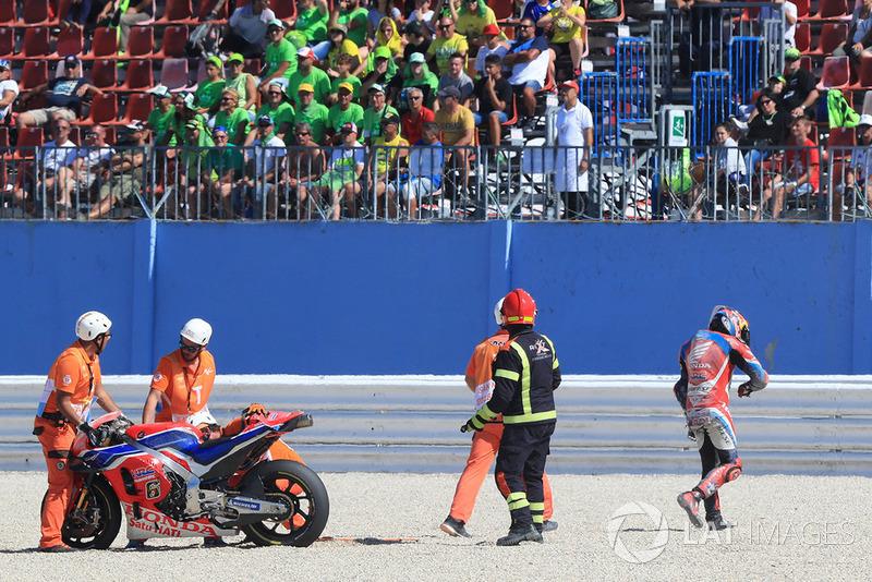 Caída de Stefan Bradl, HRC Honda Team