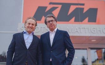 Hubert Trunkenpolz e Stefan Pierer, presentazione KTM Racing Team