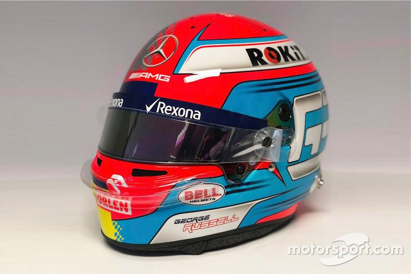 Helmet of George Russell, Williams Racing