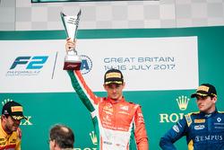 Podium: race winner Charles Leclerc, PREMA Powerteam