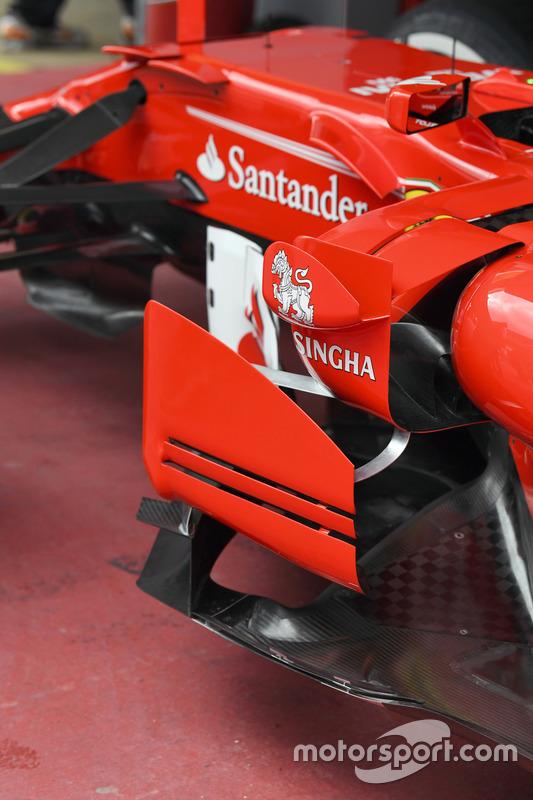 Ferrari SF70H barge board detail