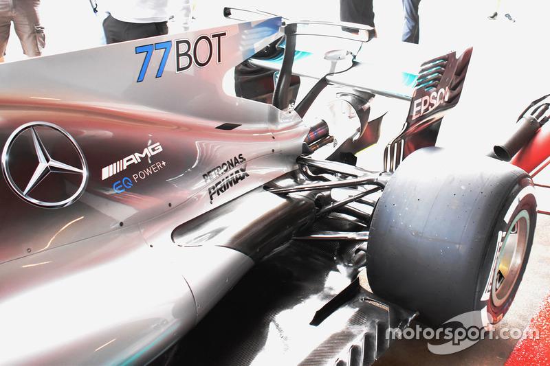 Detail belakang Mercedes AMG F1 W08