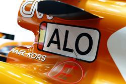 Nueva imagen en el auto de Fernando Alonso, McLaren MCL32