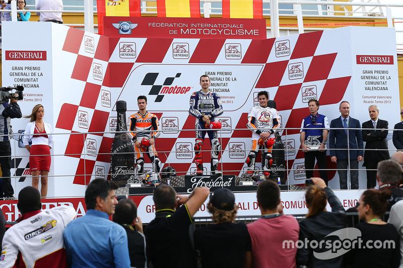 Podium: 1. Jorge Lorenzo, Yamaha; 2. Dani Pedrosa, Repsol Honda; 3. Marc Marquez, Repsol Honda