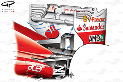 Ferrari F2012 rear wing