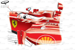 Ferrari F2012 mirror fins (arrowed)