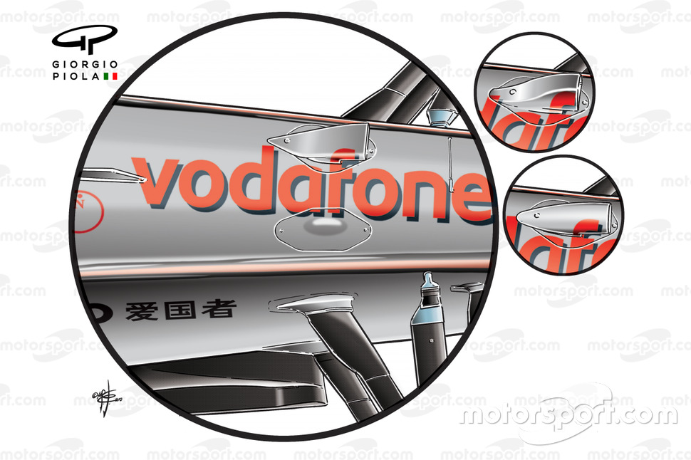 McLaren MP4-25 'F-duct' snorkel
