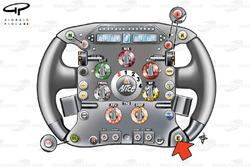 Ferrari F60 (660) 2009 Fisichella steering wheel