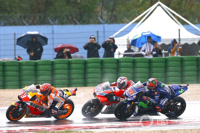 Márquez devant Dovizioso et Viñales