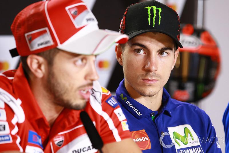 Andrea Dovizioso, Ducati Team, Maverick Viñales, Yamaha Factory Racing