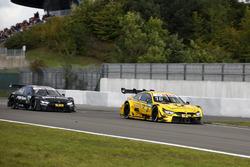 Timo Glock, BMW Team RMG, BMW M4 DTM after the crash and Bruno Spengler, BMW Team RBM, BMW M4 DTM