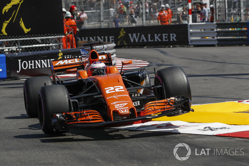 jenson button, mclaren mcl32 at monaco gp - formula 1 photos