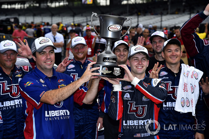 Ganador de la carrera William Byron, JR Motorsports Chevrolet