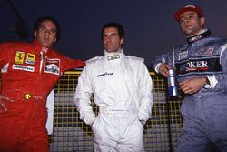 Gerhard Berger, Ferrari, Roland Ratzenberger, Simtek and Karl Wendlinger, Sauber