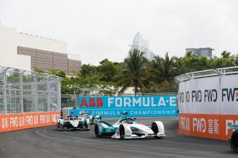 Tom Dillmann, NIO Formula E Team, NIO Sport 004, Mitch Evans, Panasonic Jaguar Racing, Jaguar I-Type 3, Nelson Piquet Jr., Panasonic Jaguar Racing, Jaguar I-Type 3