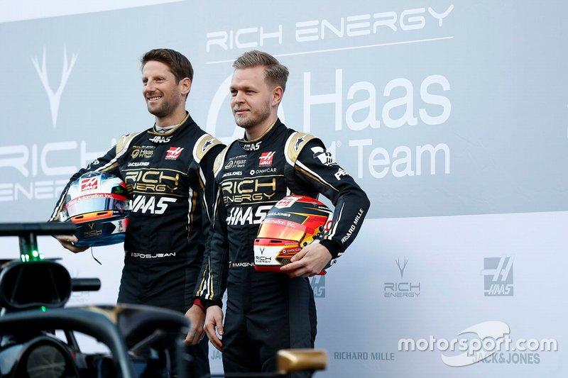 Кевін Магнуссен, Haas F1 Team, Ромен Грожан, Haas F1 Team