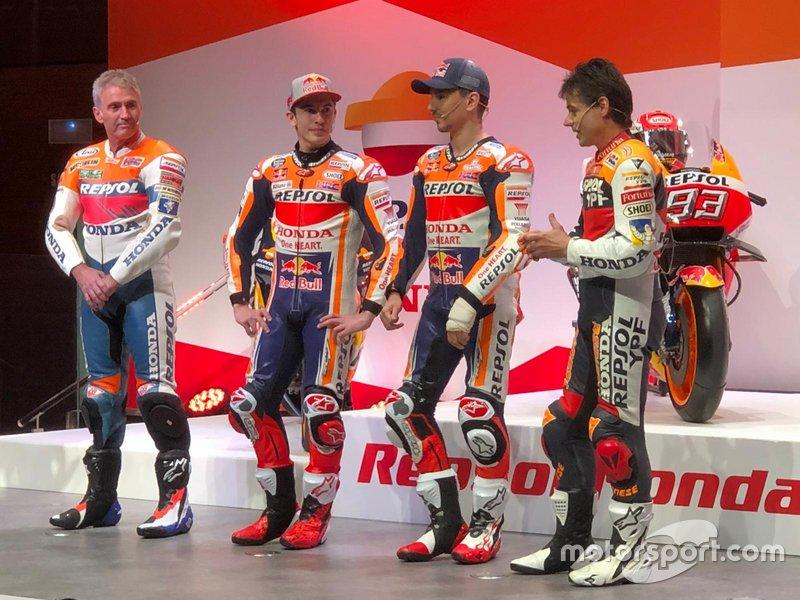Mick Doohan, Marc Márquez, Jorge Lorenzo, Alex Crivillé, Honda HRC
