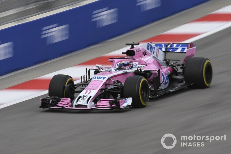 2018: Force India F1 VJM11 Mercedes (один подиум, седьмое место в КК)