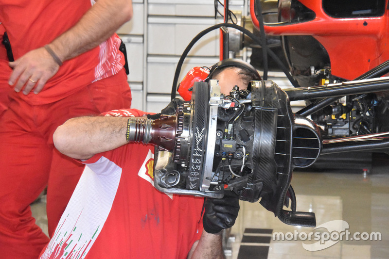 Ferrari SF71H front brake detail