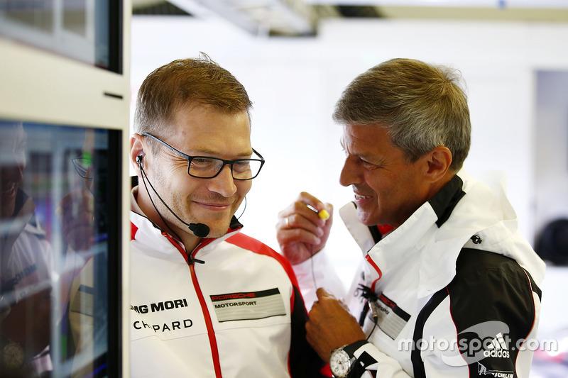 Andreas Seidl, Principal, Fritz Enzinger, Vice President LMP1, Porsche Team